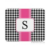Alex Houndstooth Black Mouse Pad by Boatman Geller