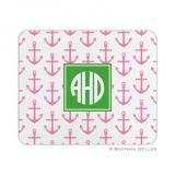 Anchors Pink Mouse Pad by Boatman Geller