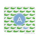 Alligator Repeat Blue Mouse Pad by Boatman Geller