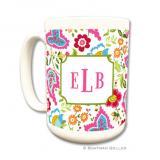 Bright Floral Coffee Mug by Boatman Geller