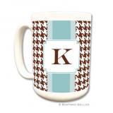 Alex Houndstooth Chocolate Coffee Mug by Boatman Geller