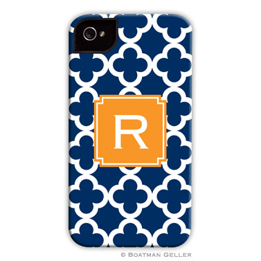 iPod & iPhone Cell Phone Case - Bristol Tile Navy