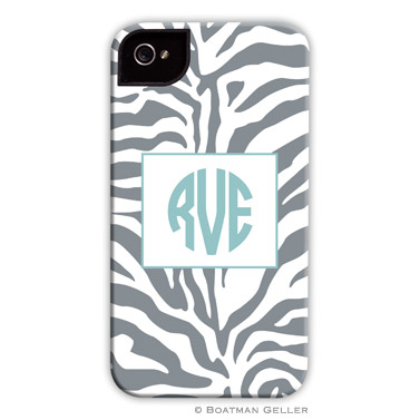 iPod & iPhone Cell Phone Case - Zebra Gray