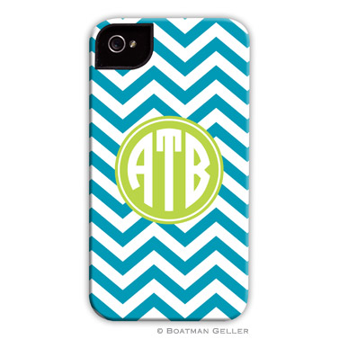 iPod & iPhone Cell Phone Case - Chevron Turquoise