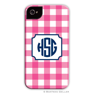 iPod & iPhone Cell Phone Case - Classic Check Raspberry