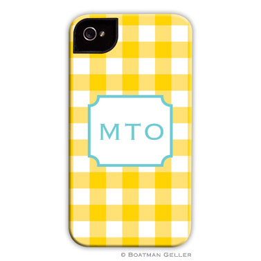 iPod & iPhone Cell Phone Case - Classic Check Sunflower