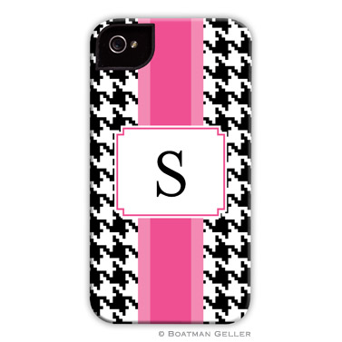 iPod & iPhone Cell Phone Case - Alex Houndstooth Black