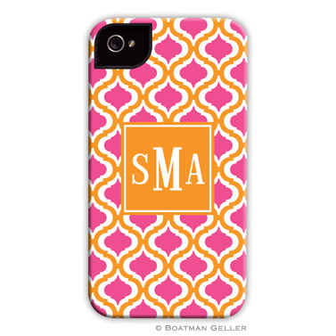 iPod & iPhone Cell Phone Case - Kate Tangerine & Raspberry