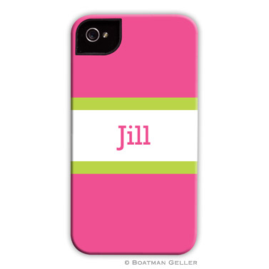 iPod & iPhone Cell Phone Case - Stripe Raspberry & Lime