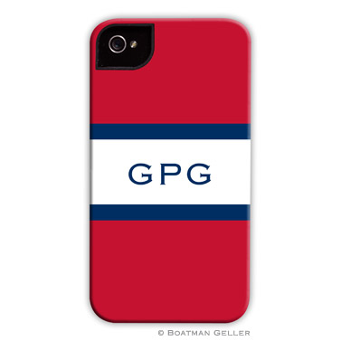 iPod & iPhone Cell Phone Case - Stripe Red & Navy