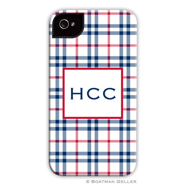 iPod & iPhone Cell Phone Case - Miller Check Navy & Red