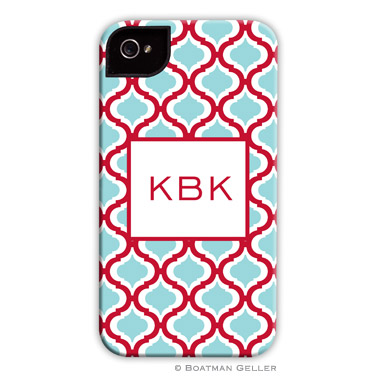 iPod & iPhone Cell Phone Case - Kate Red & Teal