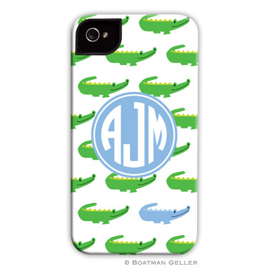 iPod & iPhone Cell Phone Case - Alligator Repeat Blue
