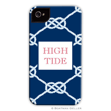 iPod & iPhone Cell Phone Case - Nautical Knot Navy