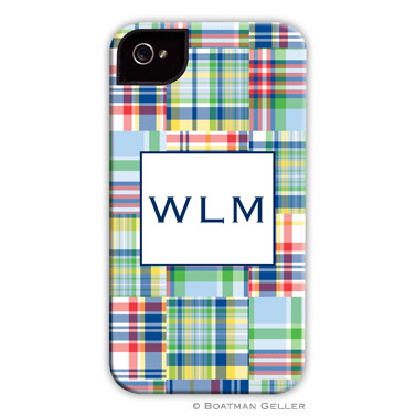 iPod & iPhone Cell Phone Case - Madras Patch Blue