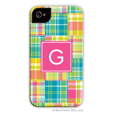 iPod & iPhone Cell Phone Case - Madras Patch Bright