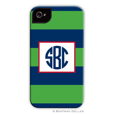iPod & iPhone Cell Phone Case - Rugby Navy & Kelly