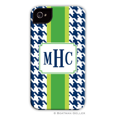iPod & iPhone Cell Phone Case - Alex Houndstooth Navy
