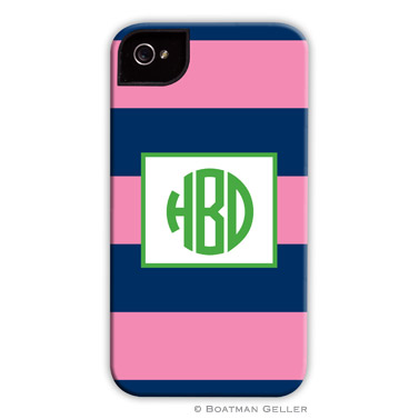 iPod & iPhone Cell Phone Case - Ruby Navy & Pink