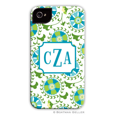 iPod & iPhone Cell Phone Case - Suzani Teal