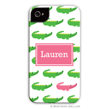 iPod & iPhone Cell Phone Case - Alligator Repeat