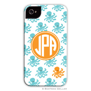 iPod & iPhone Cell Phone Case - Octopus Repeat