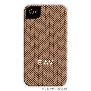 iPod & iPhone Cell Phone Case - Herringbone Brown