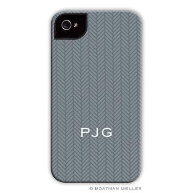 iPod & iPhone Cell Phone Case - Herringbone Gray