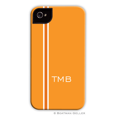 iPod & iPhone Cell Phone Case - Racing Stripe Orange by Boatman Geller, Discounted