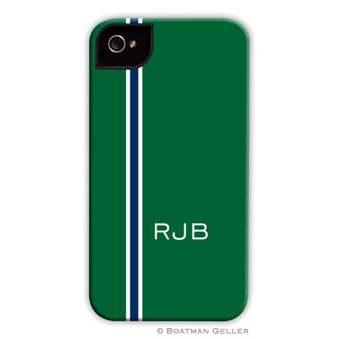 iPod & iPhone Cell Phone Case - Racing Stripe Hunter & Navy
