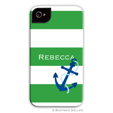 iPod & iPhone Cell Phone Case - Stripe Anchor