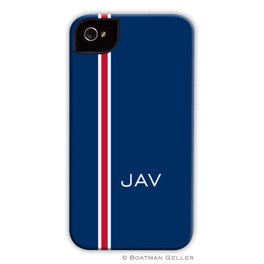 iPod & iPhone Cell Phone Case - Racing Stripe Navy & Red