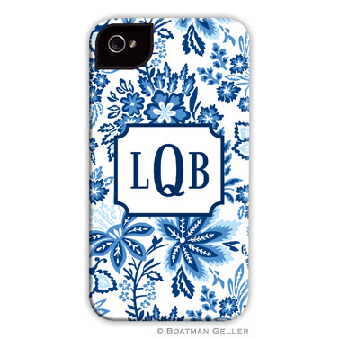 iPod & iPhone Cell Phone Case - Classic Floral Blue
