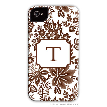 iPod & iPhone Cell Phone Case - Classic Floral Brown