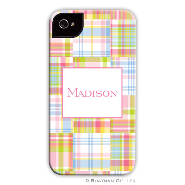 iPod & iPhone Cell Phone Case - Madras Patch Pink