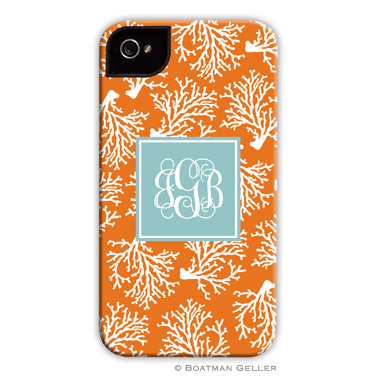 iPod & iPhone Cell Phone Case - Coral Repeat