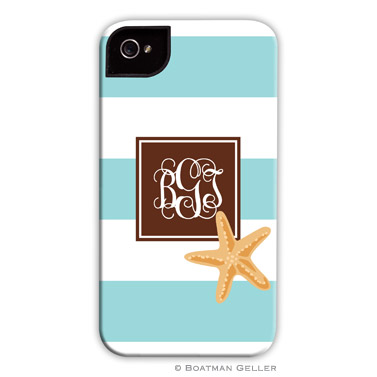 iPod & iPhone Cell Phone Case - Stripe Starfish