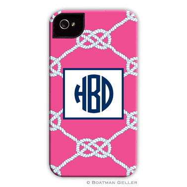 iPod & iPhone Cell Phone Case - Nautical Knot Raspberry