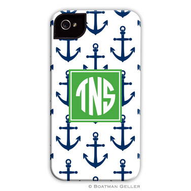 iPod & iPhone Cell Phone Case - Anchors Navy