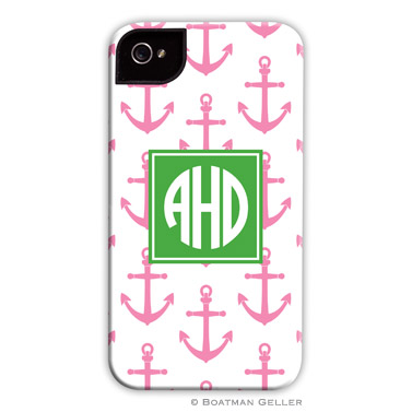 iPod & iPhone Cell Phone Case - Anchors Pink