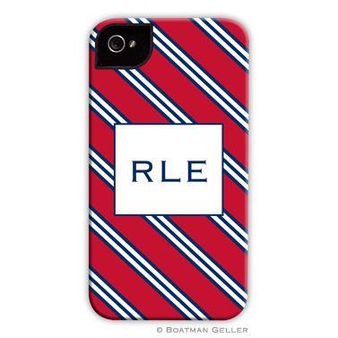 iPod & iPhone Cell Phone Case - Repp Tie Red & Navy