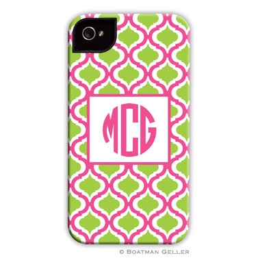 iPod & iPhone Cell Phone Case - Kate Raspberry & Lime