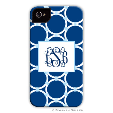 iPod & iPhone Cell Phone Case - Bamboo Rings Navy