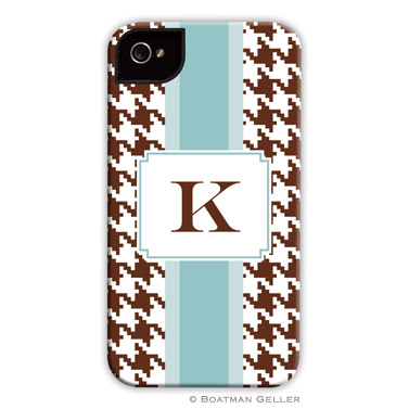 iPod & iPhone Cell Phone Case - Alex Houndstooth Chocolate