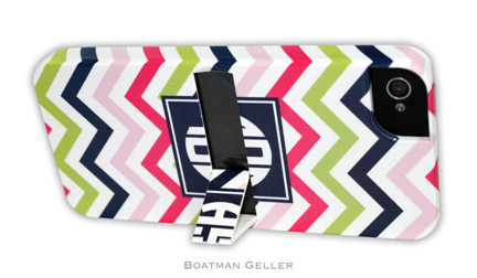 iPod & iPhone Cell Phone Case - Racing Stripe Navy & Orange 2