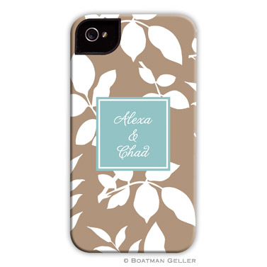 iPod & iPhone Cell Phone Case - Silo Leaves Mocha