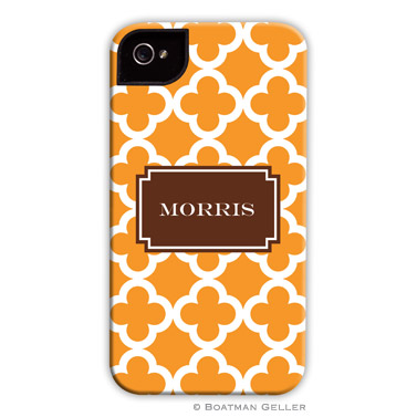 iPod & iPhone Cell Phone Case - Bristol Tile Tangerine