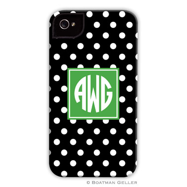 iPod & iPhone Cell Phone Case - Polka Dot Black
