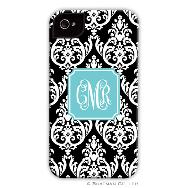 iPod & iPhone Cell Phone Case - Madison Damask Black