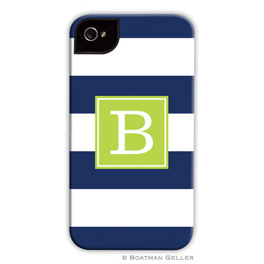 iPod & iPhone Cell Phone Case - Awning Stripe Navy